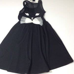 LF Mieeon Cat Face Fit And Flare Dress NWT Size 4